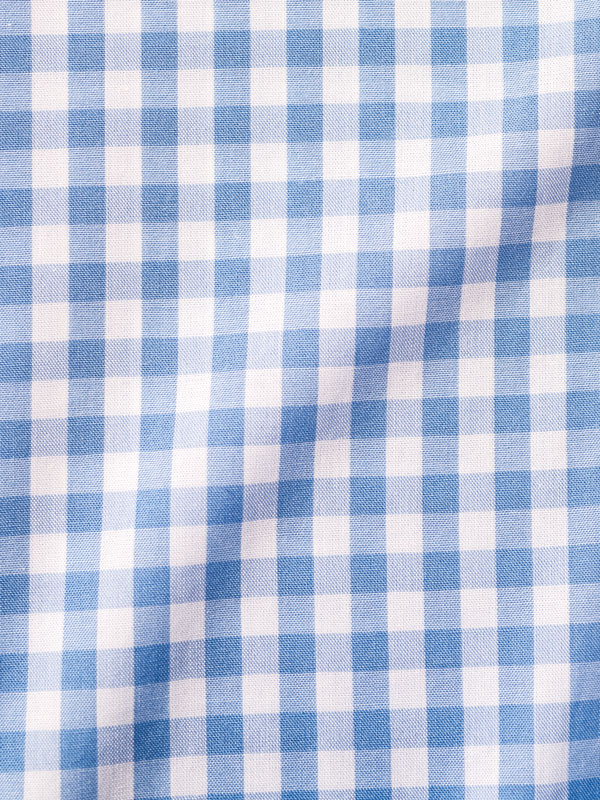Vercusta Blue White Check Fabric