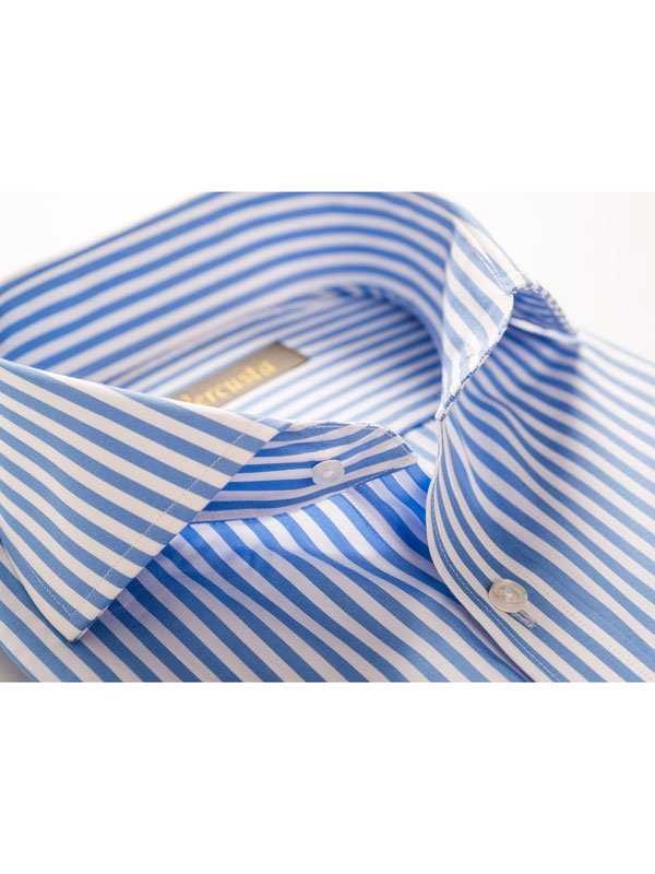 Vercusta Blue White Stripe Collar