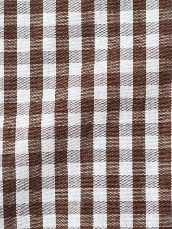 Vercusta Brown Check Fabric