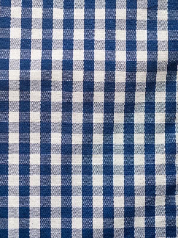 Vercusta Orange Blue Check Fabric