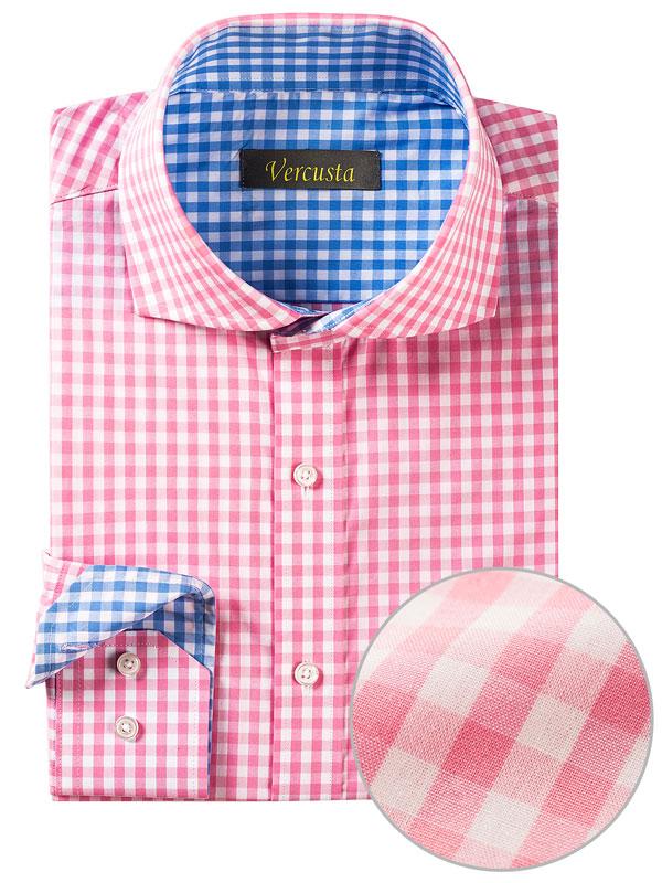 Vercusta Pink Blue Check Cuff