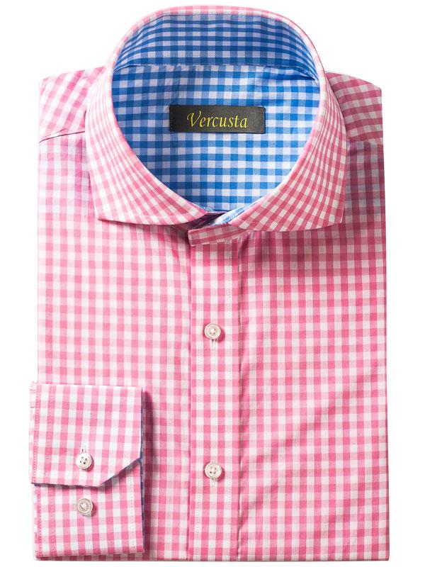 Vercusta Pink Blue Check Front