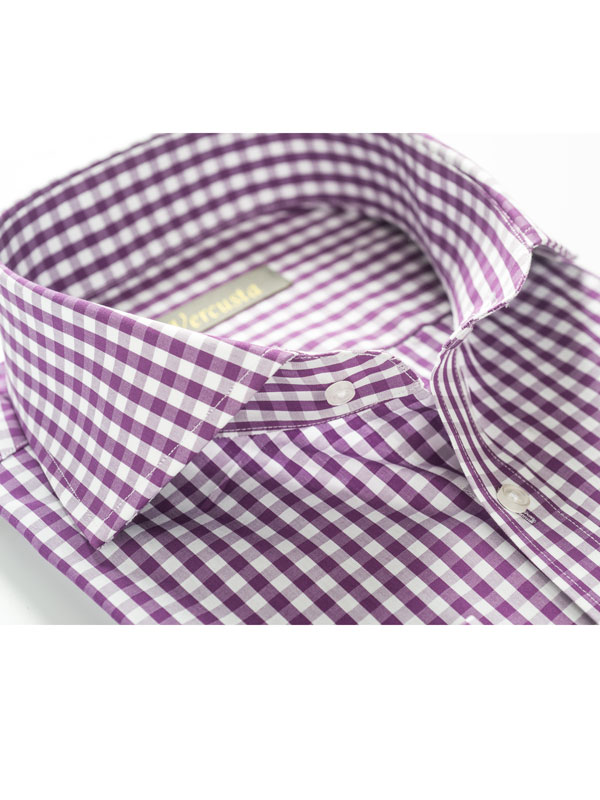 Vercusta Purple Check Collar