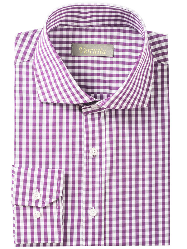 Vercusta Purple Check Front