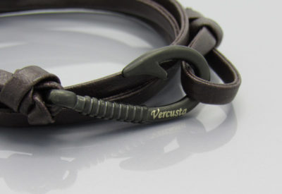 Chocolate Leather with Matte Black Hook Zoom