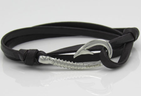 Chocolate Leather with Silver Hook