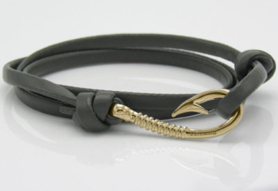 Olive Green Leather Rose Gold Hook