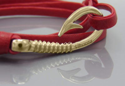 Red Leather Rose Gold Zoom