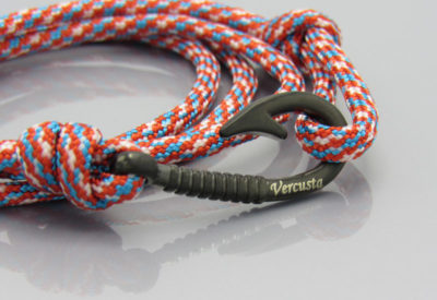 Red White Blue Matte Black Hook
