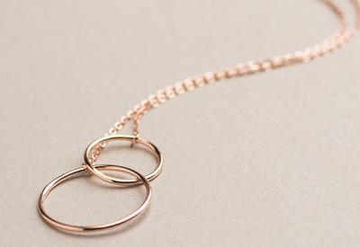 Sterling-Silver-Interlinked Rose Gold