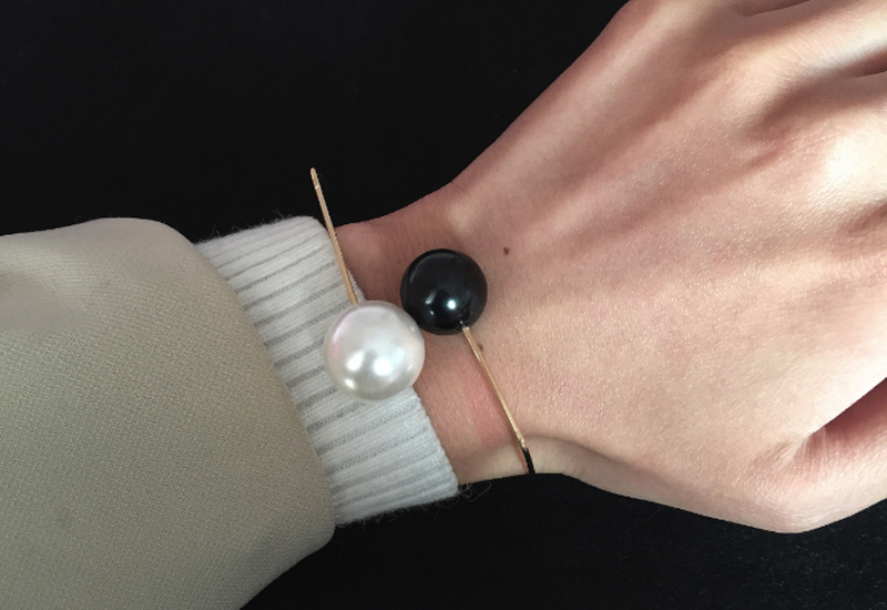 Black and White Fashion Bracelet