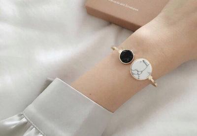 Black and White Marble Bracelet